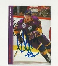 94/95 Swedish League Autographed Hockey Card Mats Lindgren