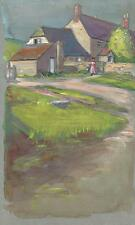 A DORSET FARM Antique Watercolour Painting c1920