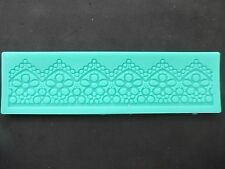 Silicone Lace Border Fondant Gumpaste Mould Decoration Bake Sugarpaste Icing
