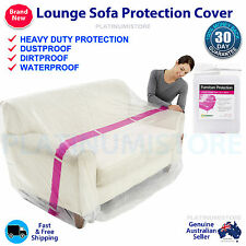 2x (3 and 2 Seaters) Sofa Lounge Furniture Protect Plastic Cover Storage Bag