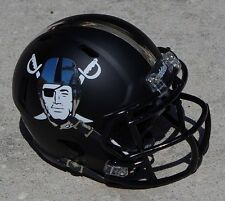OAKLAND RAIDERS CONCEPT CHROME AND MATTE BLACK SPEED MINI FOOTBALL HELMET
