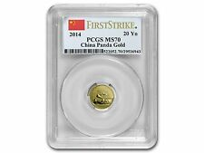 2014 1/20oz 20 Yuan China Gold Panda - PCGS First Strike MS70