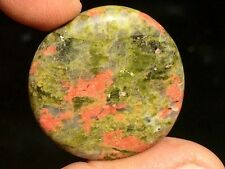 21gr Galet Unakite Pierre Plate (Chine) ~7503 Tumbled Unakite from China