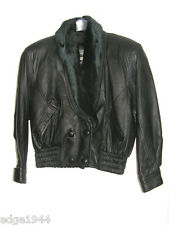 Leather or Faux Leather ITALIAN JUNYE SHORT COAT, Size Medium, About 40 x 30