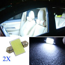 2PC 31MM 12V 3W LED COB Festoon Interior Dome Bulb Car Map Reading Light Lamp