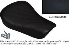 DIAMOND STITCH DARK RED CUSTOM FITS HARLEY SPORTSTER 883 48 72 RIDER SEAT COVER