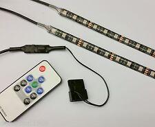 PC CASE RGB FLEXI LED STRIP COLOUR CHANGE LIGHT 2x10cm - TWICE AS BRIGHT!!