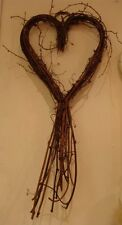 GISELA GRAHAM LARGE NATURAL TWIG SWEET HEART WREATH CHRISTMAS WEDDING DECORATION