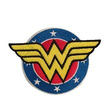 """DC Wonder Woman Crest Logo Officially Licensed 3 1/2""""  Embroidered Iron On Patch"""