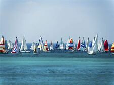 SAILING BOATS SEA COLOURFUL PHOTO ART PRINT POSTER PICTURE BMP1930A