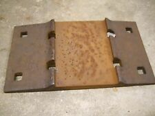 RR TRACK PLATE vintage rail road tie base   double shoulder