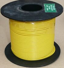 Large Cable Reel 9/0.3mm (0.65mm²) 5 Amp Yellow 50M
