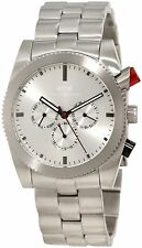 KR3W Mens K1342SLV Stainless Steel Redrum Silver Automatic Wrist Watch New Box