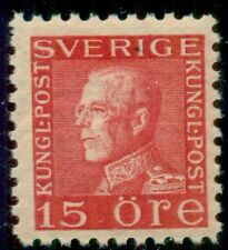 SWEDEN #191v 15ore rose red, type II, (E on collar) og, NH, VF, Facit $80.00