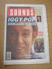 SOUNDS 1990 JUNE 16 IGGY POP HOTHOUSE FLOWERS BLACK CROWES CURE GANG OF FOUR