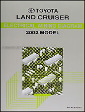 NEW 2002 Toyota Land Cruiser Wiring Diagram Manual Electrical Schematic OEM Book