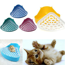 Small Animal Pet Cat Rabbit Guinea Mice Pig Hamster Corner Litter Trays Plastic