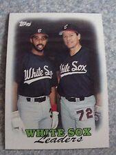 L#240 1988 Topps #321 White Sox Leaders, Carlton Fisk, NrMt