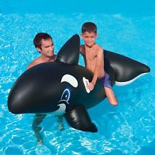 INFLATABLE SWIMMING POOL TOYS KIDS RIDE ON LARGE WHALE