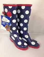 Ladies Size 4 UK Printed Navy Spot Wellies Womens Winter Wellington Rain boots