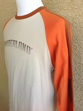 Timberland Long Sleeved T-shirt M Medium Beige / Brown Solid Graphic Tee  B96