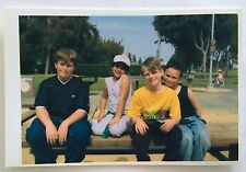 Vintage PHOTO Of Brothers, Sisters & Cousins Sitting On Park Bench