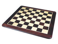 "Rounded Edges Flat Wooden Chess Board 20"" Inlaid Rosewood/Maple. Sq. Size 2"""