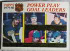 1980 Topps Power Play Goal Leaders Simmer Dionne Gare Steve Shutt Sittler