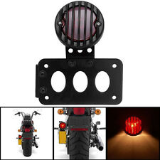Vertical Side Mount License Plate Tail Light Bracket for Harley Bobber Chopper