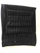 New ARMANI COLLEZIONI Black Striped Wool Pleated Dress Pants 42L/W36.