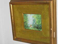 Antique Painting with wood/velvet Frame
