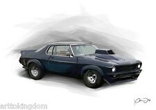 Mad Max - Nightriders Monaro A4 Sized Print Numbered /100
