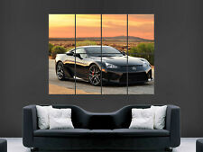 LEXUS LFA  SUPERCAR BLACK LARGE PICTURE POSTER GIANT HUGE