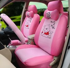 ** 18 Piece Pink Winnie the Pooh and Piglet Car Seat Covers **