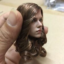 In Stock 1/6 Custom Black Widow  Head Sculpt For Hot Toys Female Phicen Body