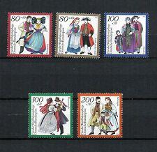 BRD 1994 postfrisch Nr. 1757 - 1761 ** Deutsche Trachten - Strive