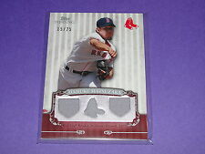 2009 Bowman Sterling DAISUKE MATSUZAKA #69 Game Used JSY/25 Boston RED SOX Japan