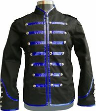 Men's Handmade Black Parade Military Marching Band Drummer Jacket Goth Punk Emo