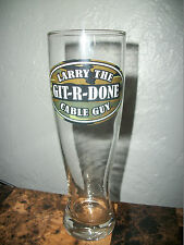 COMEDIAN LARRY THE CABLE GUY GIT-R-DONE 16 OZ CAMO PILSNER BEER BAR STEIN GLASS