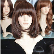 HE-J0281 New popular short fashion Brown red wig  wigs for women