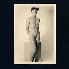 #394 RÖSSLER AKTFOTO / NUDE WOMAN STUDY * Vintage 1950s Studio Photo - no PC !