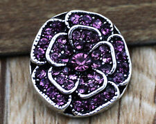 3D Rhinestone Drill Snaps Chunk Charm Button Fit For  Leather Bracelets !!