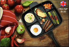 Non-Stick Multi-Section 5 in 1 Master Frying Pan Multi Grill Cooked Breakfast