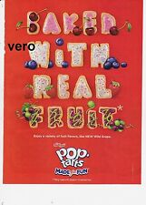 KELLOGG 2011 Pop Tarts mag ad clipping BAKED WITH REAL FRUIT letters scrapbook