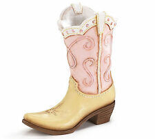 Cowboy Boot Vase Howdy Cowgirl Yellow Pink burton+BURTON Table Centerpiece