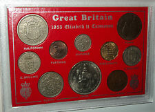 The Coronation of Queen Elizabeth II Crown Coin Gift Set 1953 in Display Case