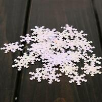 150x Iridescent Snowflake Confetti Sequins Christmas Frozen Crafts Color Vision