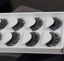5 Pairs of Thick Natural Fiber Soft Fake False Eyelashes Eye Lashes Makeup Tools