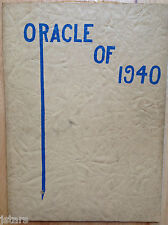 1940 OSSIAN HIGH SCHOOL YEARBOOK, THE ORACLE, OSSIAN, IN