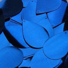 """Royal Blue Shiny Sequins Teardrop 1.5"""" Large Couture Paillettes"""